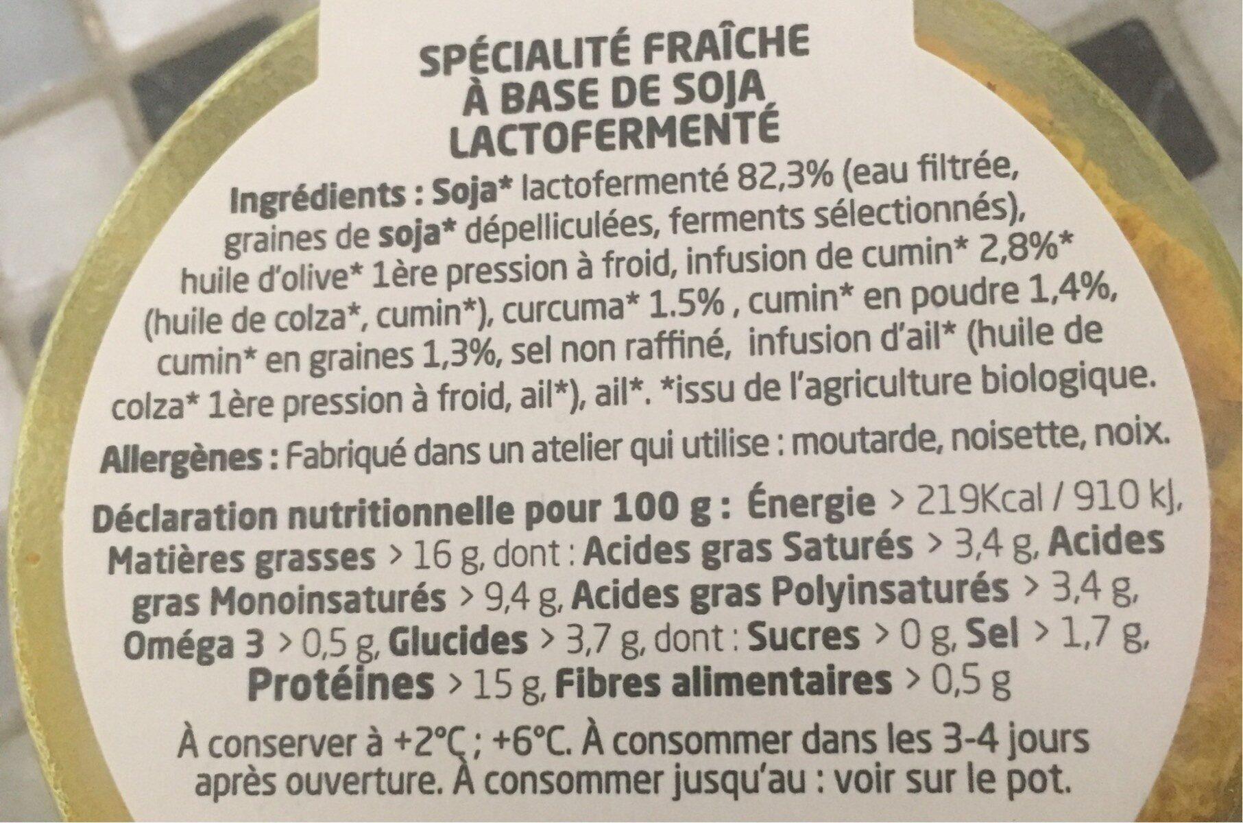 From Jamy Cumin curcuma - Nutrition facts