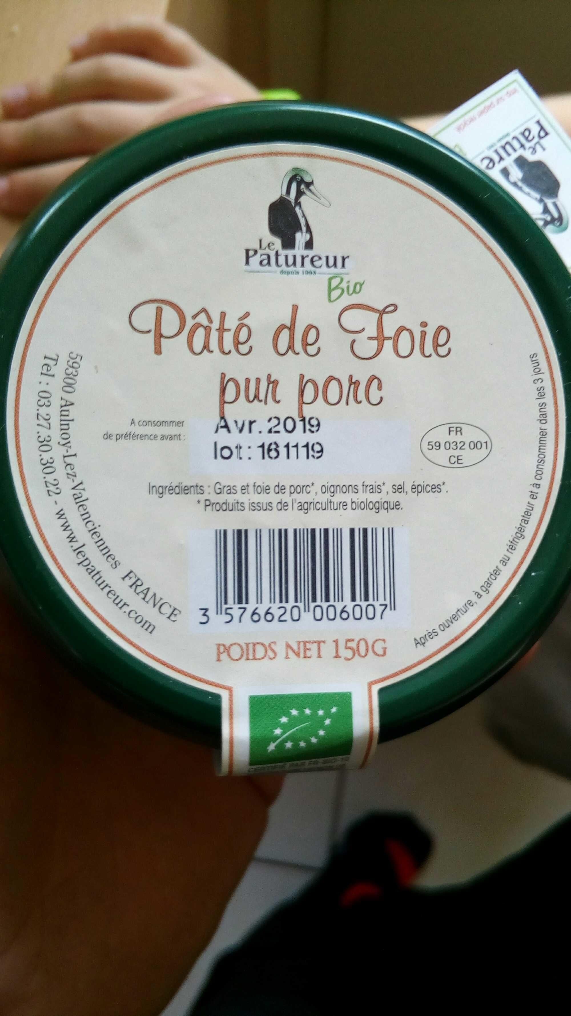 Pâté de Foie Bio Pur Porc - Product - fr