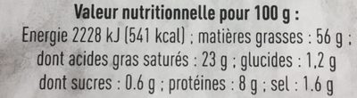Pâté de Foie Bio Pur Porc - Nutrition facts - fr