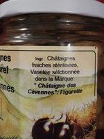 Châtaignes au naturel des Cévennes - Ingredients