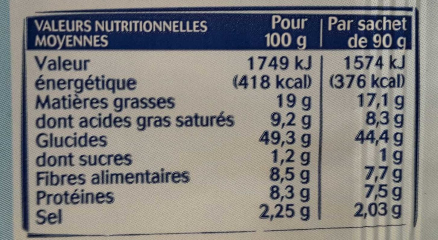 Maxi pop - Nutrition facts