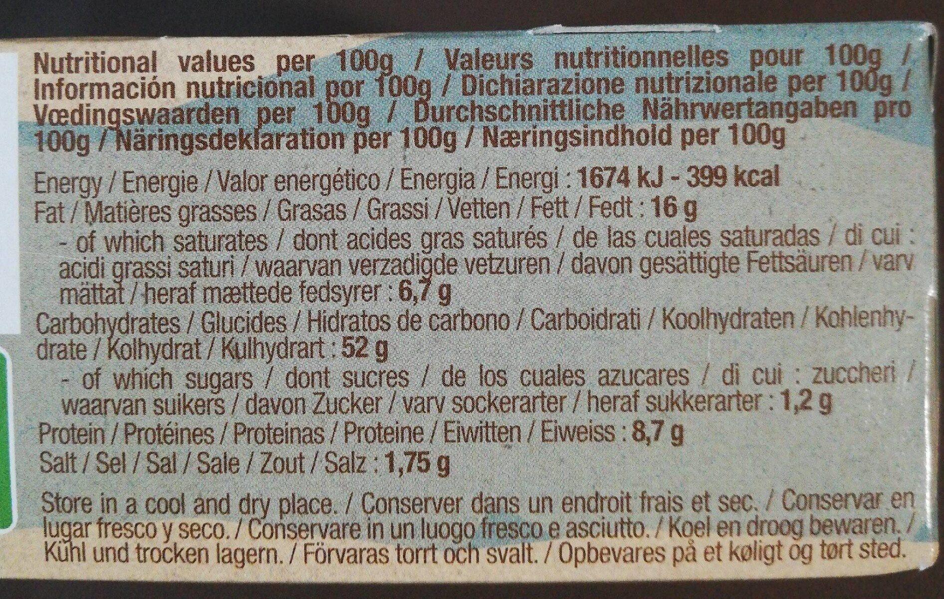 Pop Corn - Valori nutrizionali - fr