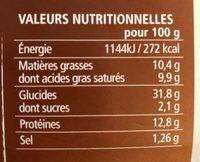 Pizza Au Chevre - Voedingswaarden - fr