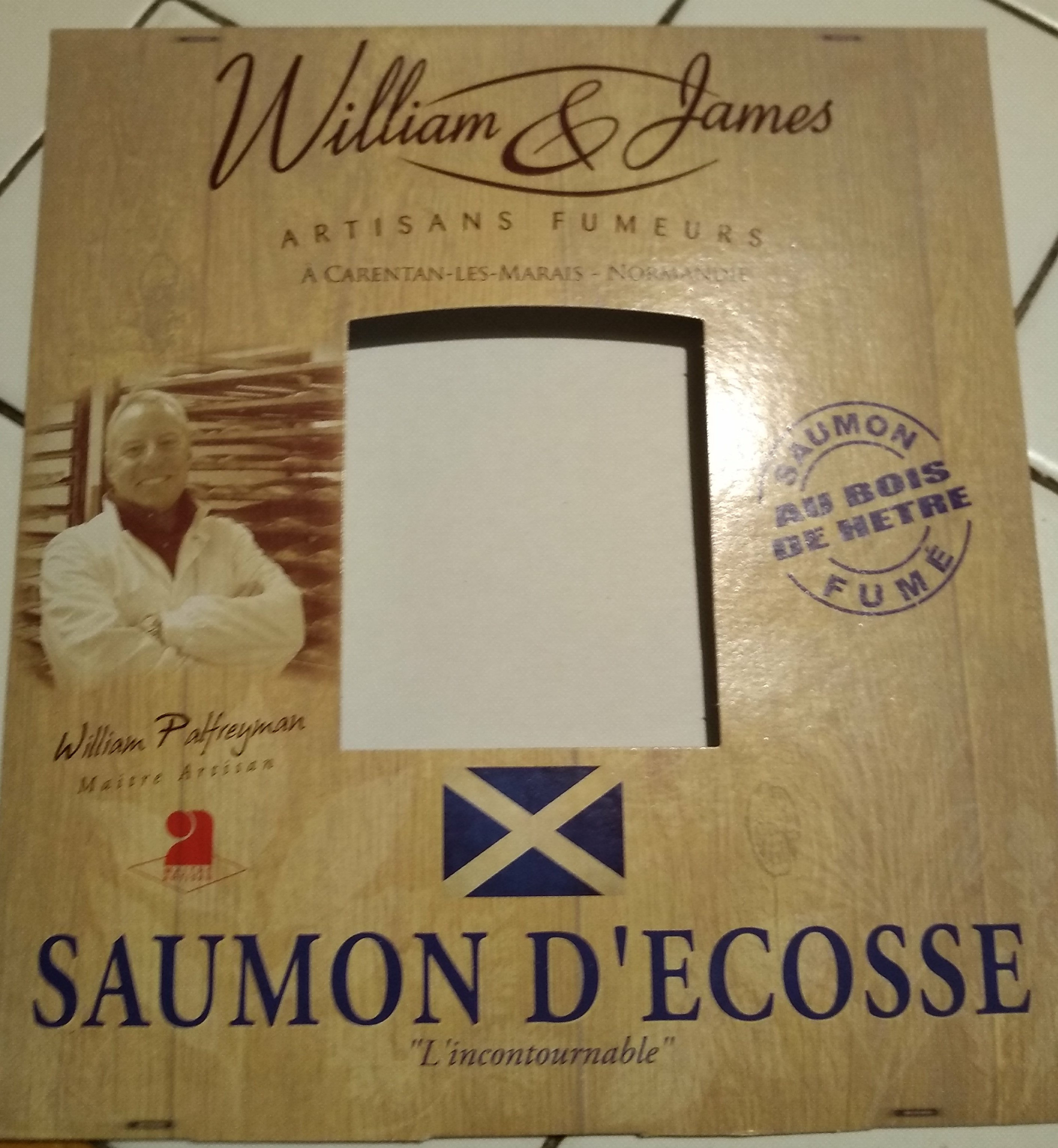 Saumon fume William & James Ecosse 4 tranches - Product - fr