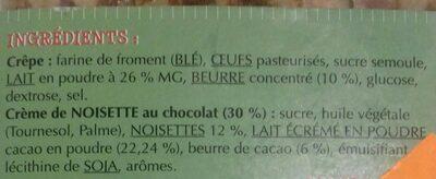 Crêpes avec crème de noisettes - Ingredienti - fr