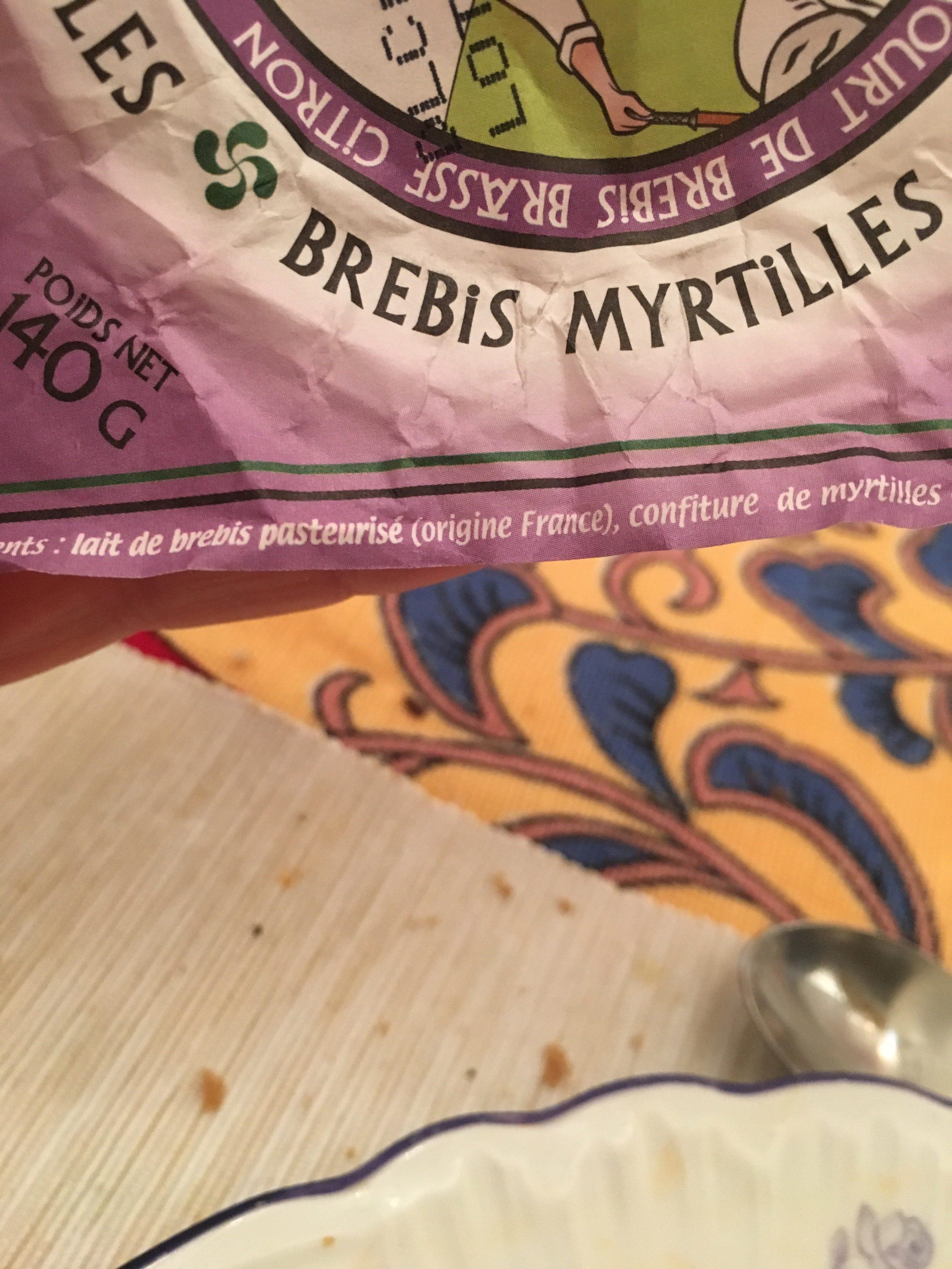 Yaourt Brebis Myrtille - Ingrédients