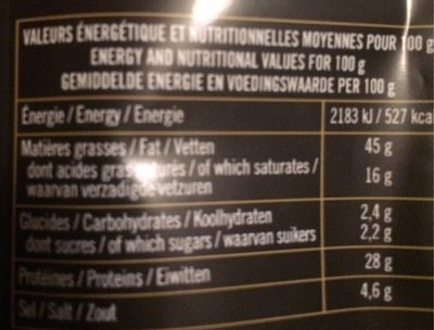 Mini Sticks Nature - Saucisson Sec Pur Porc - Informations nutritionnelles