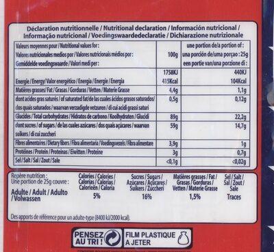 Pop Corn Caramel - Valori nutrizionali - fr