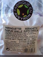 Meringuettes - Voedingswaarden - fr
