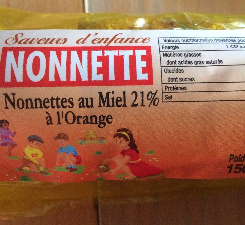 Nonnette au miel 21% à l'orange - Product - fr