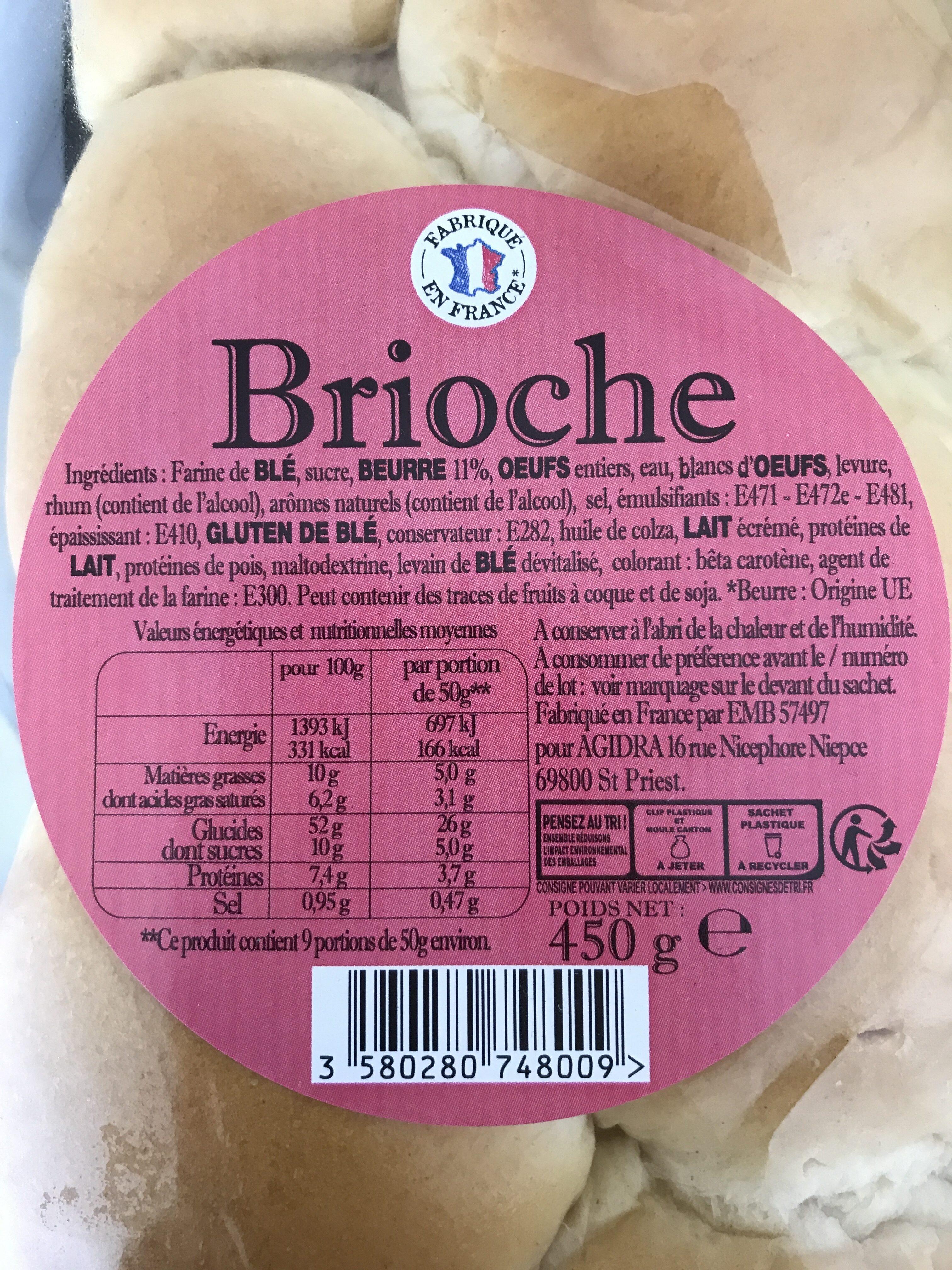 Brioche - Ingredientes - fr