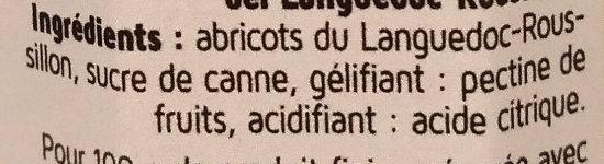 Confitures d'abricots - Ingrédients - fr