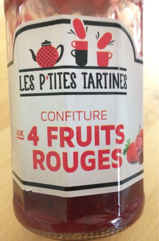 Confiture aux 4 fruits rouges - Produit