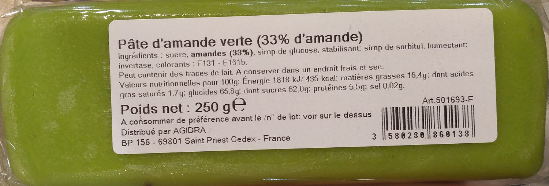 Pâte d'Amande Verte - Produit