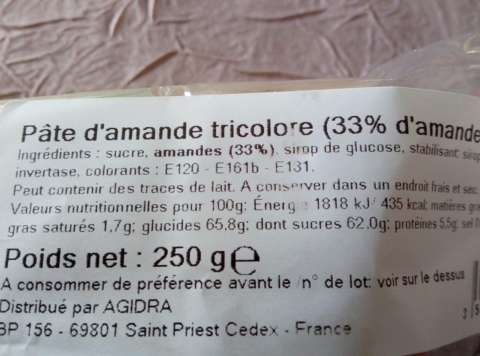 Pâte amande - Ingrédients - fr