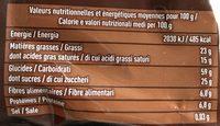 Mini Galette de Riz Chocolat Noir - Informations nutritionnelles - fr