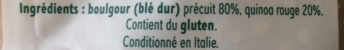 Mélange Boulgour & Quinoa - Ingrédients - fr