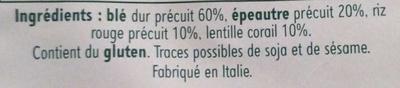 Céréales & lentilles - Ingrediënten - fr