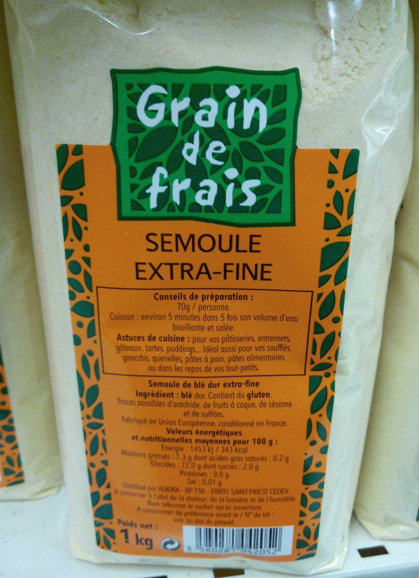 Semoule extra-fine - Produit - fr