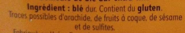 Semoule extra-fine - Ingrédients - fr