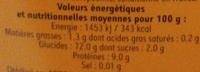 Semoule extra-fine - Informations nutritionnelles - fr