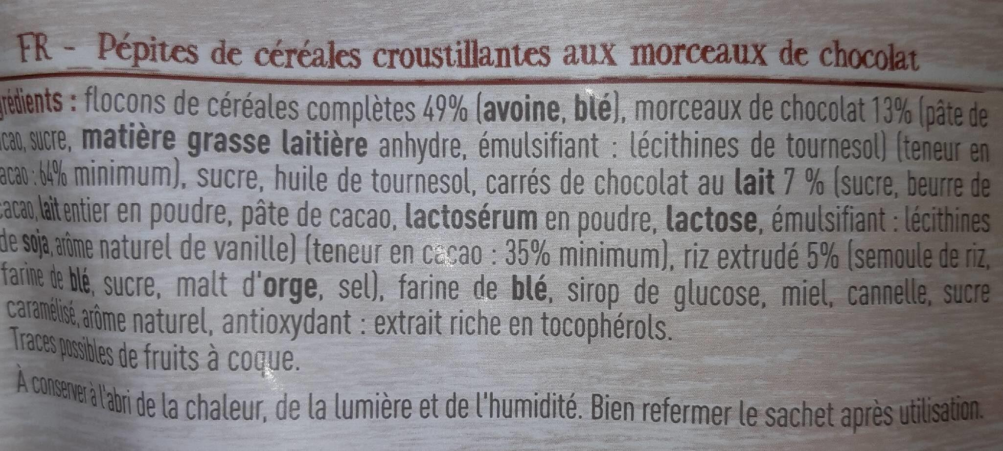 Muesli crunchy - Ingrédients - fr
