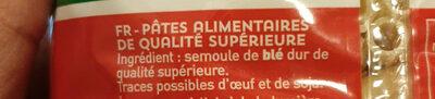 Ditalini Lisci n 69 - Inhaltsstoffe - fr