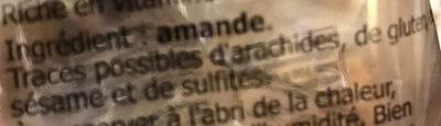 Amande - Ingredients