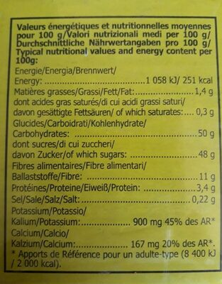 Figues Pulled N°6 Ravier 500G NOUVELLE RECOLTE - Nutrition facts - fr