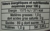 Délice de fraises - Nutrition facts - fr