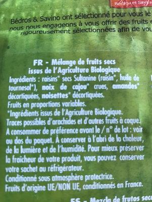 Mélange essentiel - Ingredients