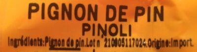 Pignon Chine Paquets - Ingrédients - fr