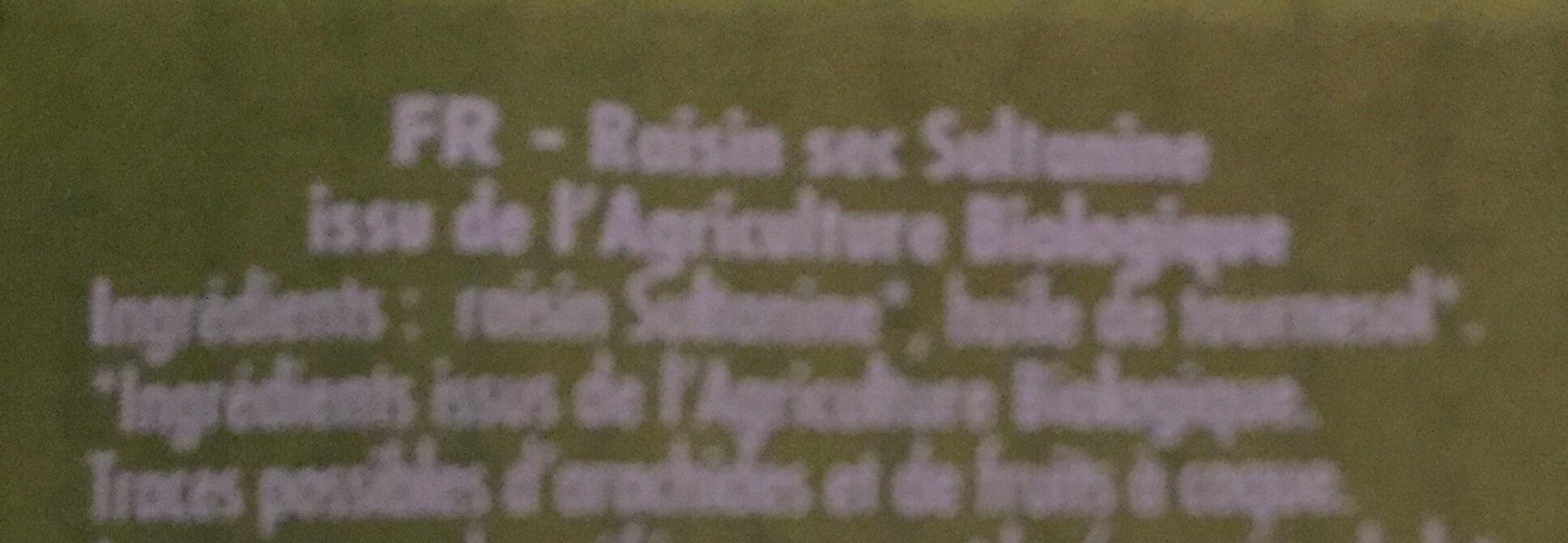 Raisin sec sultanine - Ingrédients - fr