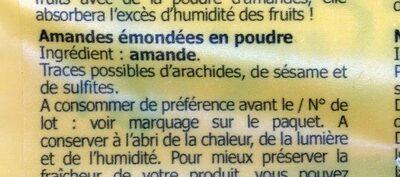 Poudre d'amandes - Ingredients - fr