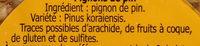 Pignon De Pin - Ingredients - fr