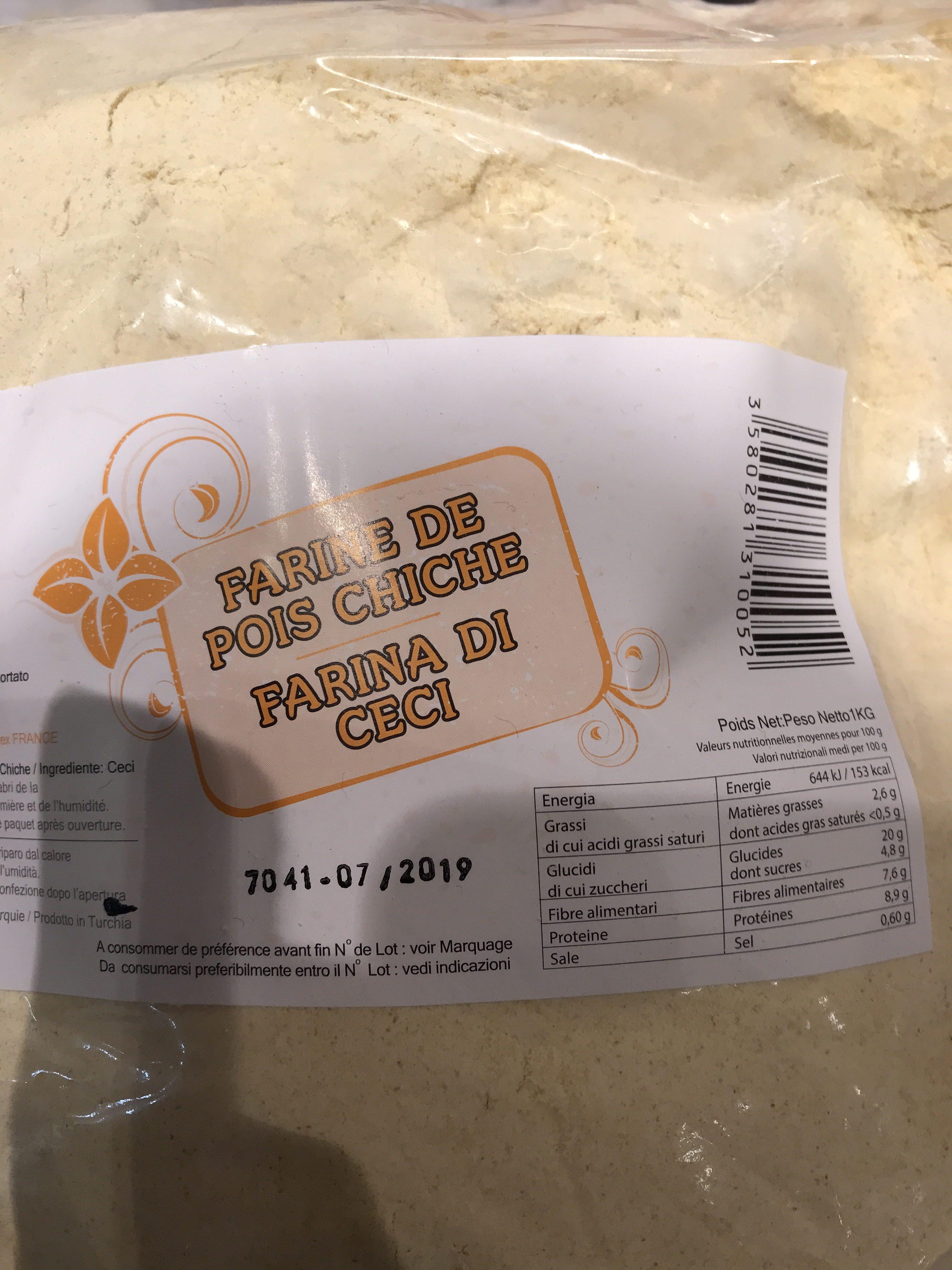 Farine De Pois Chiches - Ingredients