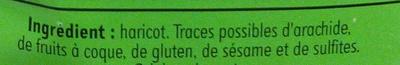 Haricots coco blancs - Ingrédients - fr
