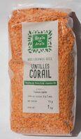 Lentilles corail - Produit - fr