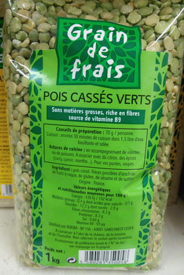 Pois cassés verts - Produit - fr