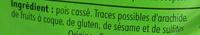 Pois cassés verts - Ingrédients - fr