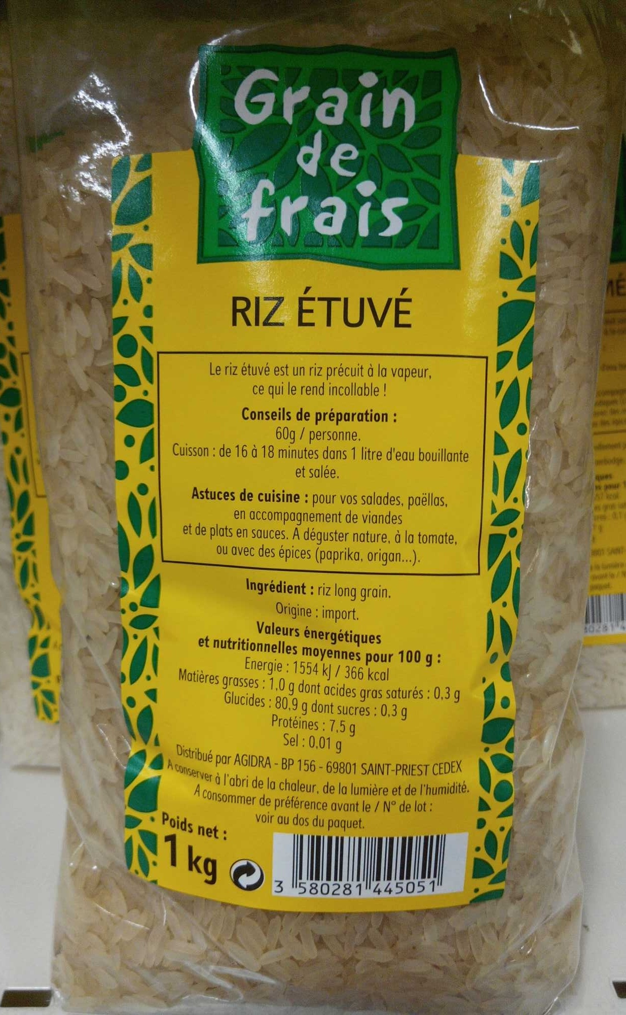 Riz étuvé - Producto - fr