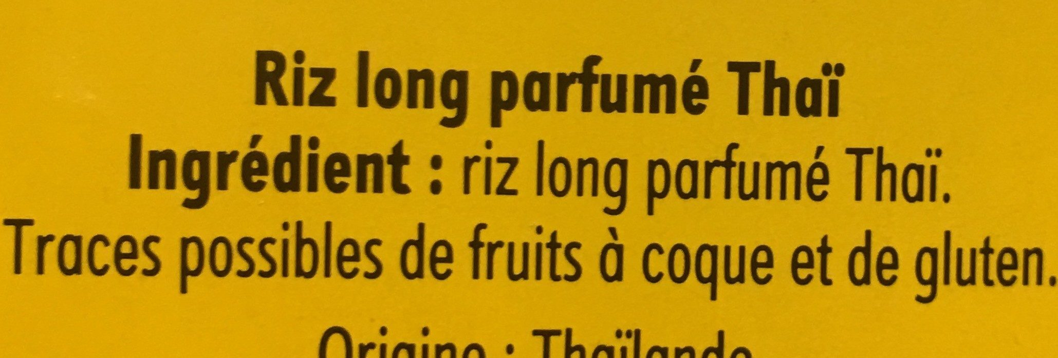 Riz thaï - Ingredientes - fr