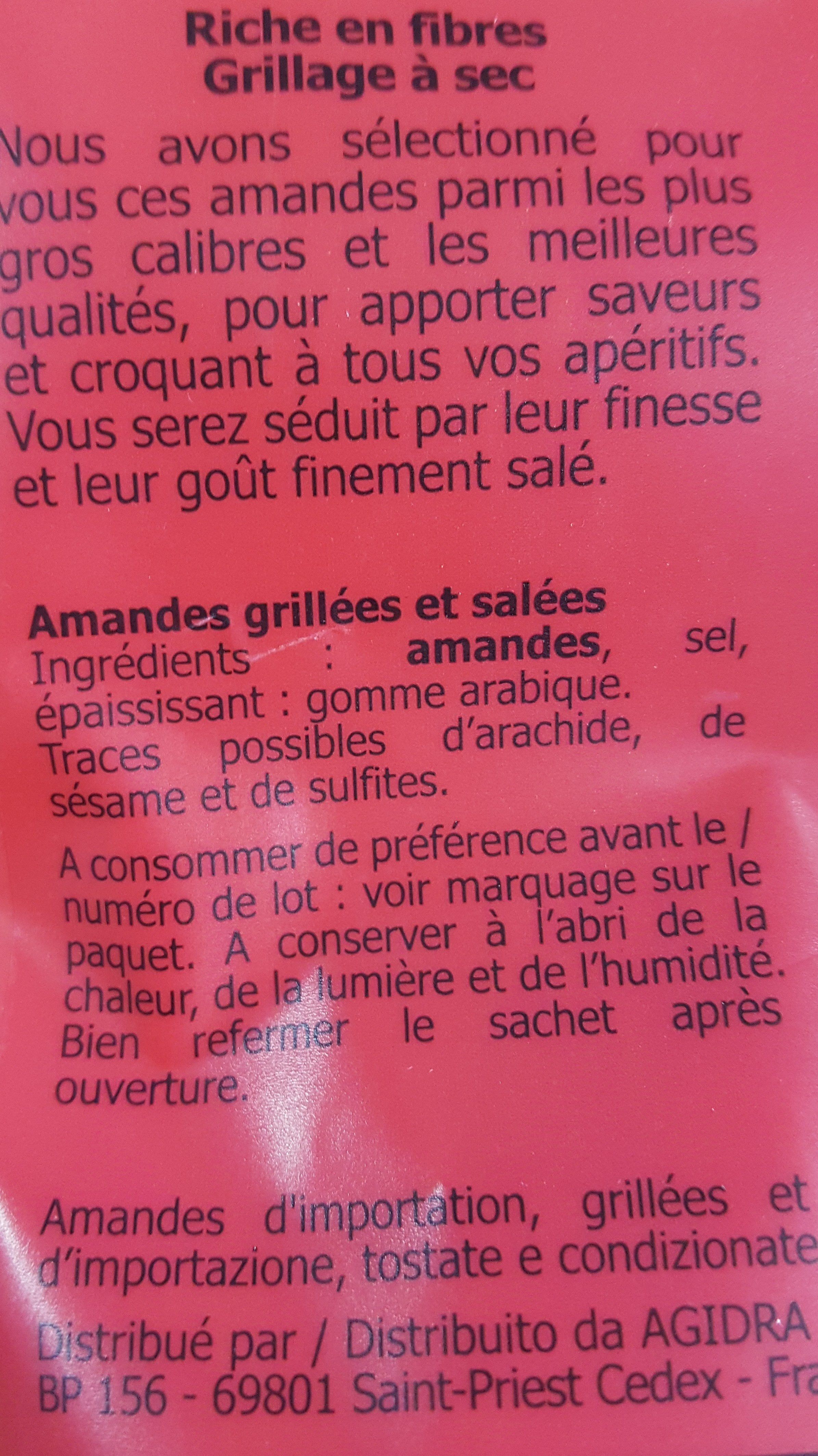 Amandes grillees salees - Ingrédients - fr