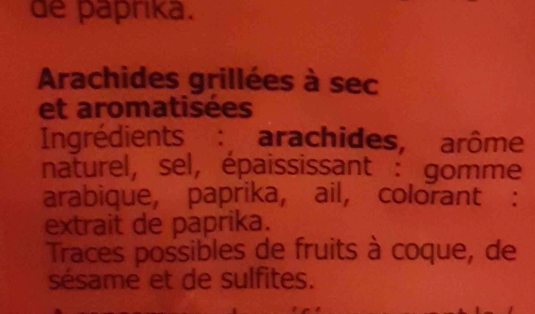 Cacahuètes aromatisées grillées salées - Ingrédients - fr