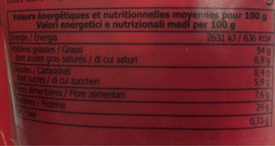 Mélange californien - Informations nutritionnelles - fr
