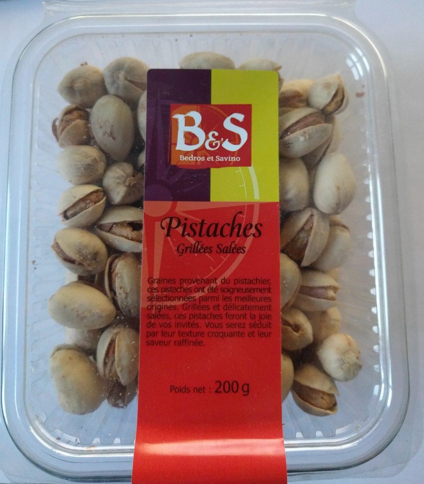Pistaches grill es sal es bedros et savino 200 g - Calories pistaches grillees ...
