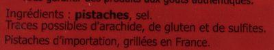 Pistaches grillées salées - Ingrédients