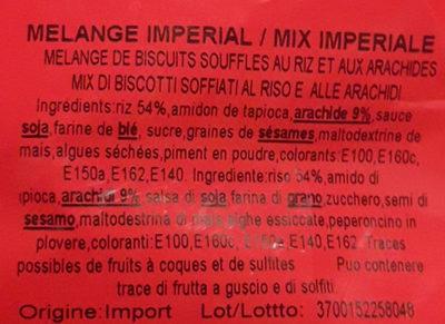 Rice Crackers Japonais Impérial - Ingrédients - fr