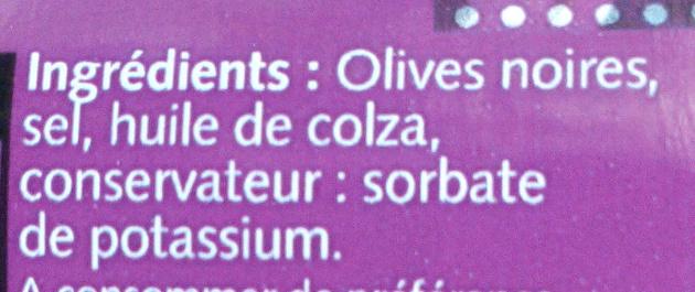 Olives noires à la grecque - Ingrédients - fr