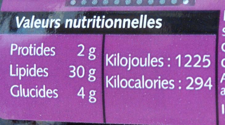 Olives noires à la grecque - Informations nutritionnelles - fr
